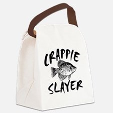 CRAPPIE SLAYER 4 WHITE Canvas Lunch Bag