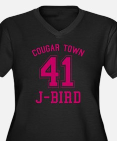 cougar-town_ Women's Plus Size Dark V-Neck T-Shirt