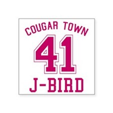 "cougar-town_41-j-bird Square Sticker 3"" x 3"""