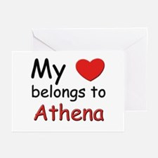 My heart belongs to athena Greeting Cards (Package