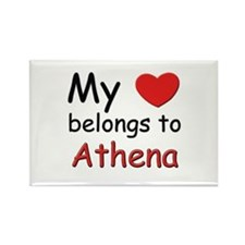 My heart belongs to athena Rectangle Magnet