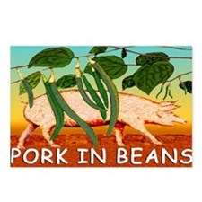 NEW PORK IN BEANS mug Postcards (Package of 8)
