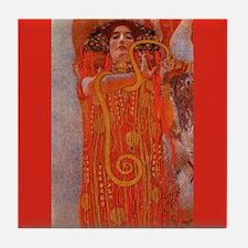 Gustav Klimt Art Tile Coaster - Hygieia (Medicine)