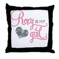 RoxyisMyGirl_Roxy Throw Pillow