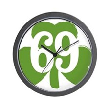 69 Clover Wall Clock