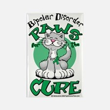 Paws-for-the-Cure-Cat-Bipolar-Dis Rectangle Magnet
