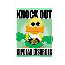 Knock-Out-Bipolar-Disorde Postcards (Package of 8)