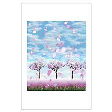 Sakurama - Cherry trees Large Poster
