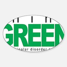 Bipolar-Disorder-THINK-Green Sticker (Oval)