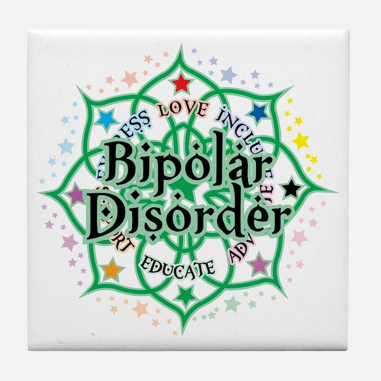 Bipolar-Disorder-Lotus Tile Coaster