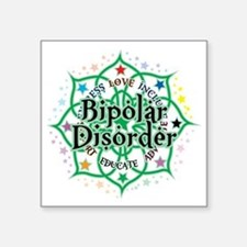 "Bipolar-Disorder-Lotus Square Sticker 3"" x 3"""