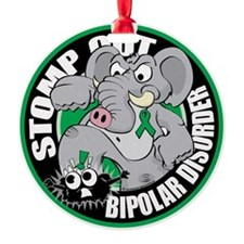Stomp-Out-Bipolar-Disorder-Circle Ornament