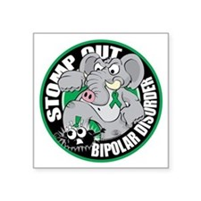 "Stomp-Out-Bipolar-Disorder- Square Sticker 3"" x 3"""