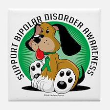 Bipolar-Disorder-Dog Tile Coaster
