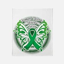 Bipolar-Disorder-Butterfly-3-blk Throw Blanket