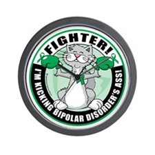 Bipolar-Disorder-Cat-Fighter Wall Clock