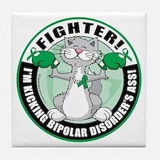 Bipolar-Disorder-Cat-Fighter Tile Coaster