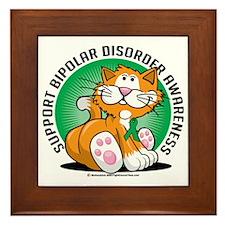 Bipolar-Disorder-Cat Framed Tile