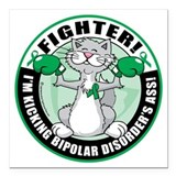 Bipolar disorder Square Car Magnets