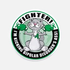 "Bipolar-Disorder-Cat-Fighter 3.5"" Button"