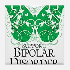 Bipolar-Disorder-Butterfly Tile Coaster