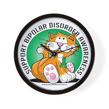 Bipolar-Disorder-Cat Wall Clock