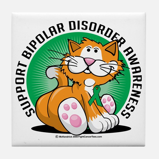 Bipolar-Disorder-Cat Tile Coaster