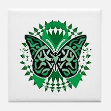 Bipolar-Disorder-Butterfly-Tribal-2-b Tile Coaster