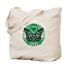 Bipolar-Disorder-Butterfly-Tribal-2-blk Tote Bag