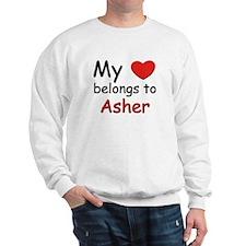 My heart belongs to asher Sweatshirt