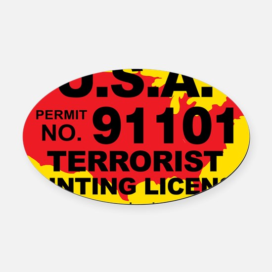 TH-License-usa Oval Car Magnet