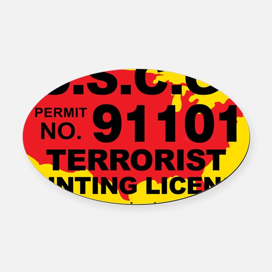 TH-License-USCG Oval Car Magnet