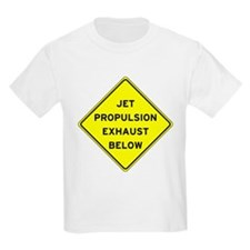 Jet Propulsion Exhaust Kids T-Shirt
