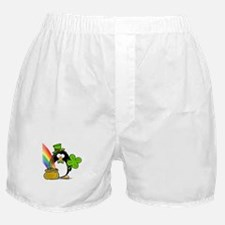 Leprechaun Penguin Boxer Shorts