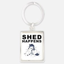 shed_tshirt_light Portrait Keychain