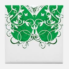 Bipolar-Disorder-Butterfly-blk Tile Coaster