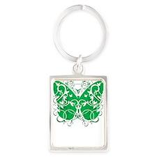 Bipolar-Disorder-Butterfly-blk Portrait Keychain
