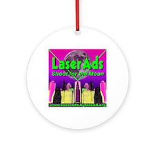 laserads_shootforthemoon Round Ornament