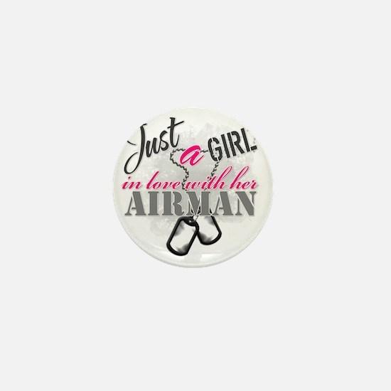 Just a girl Airman Mini Button