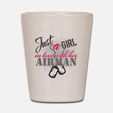 Just a girl Airman Shot Glass