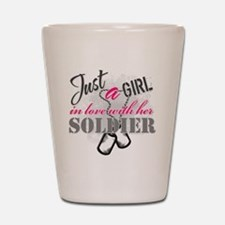 Just a girl Soldier Shot Glass