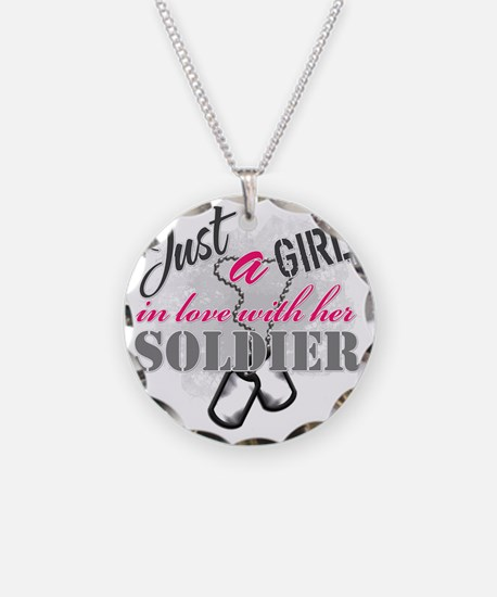 Just a girl Soldier Necklace