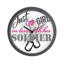 Just a girl Soldier Wall Clock