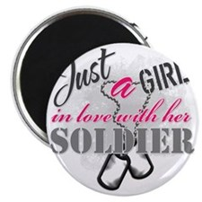 Just a girl Soldier Magnet