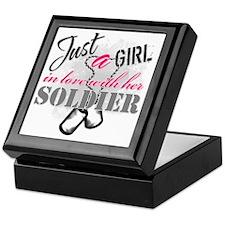 Just a girl Soldier Keepsake Box