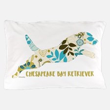 Chesapeake Bay Retriever Floral Pillow Case
