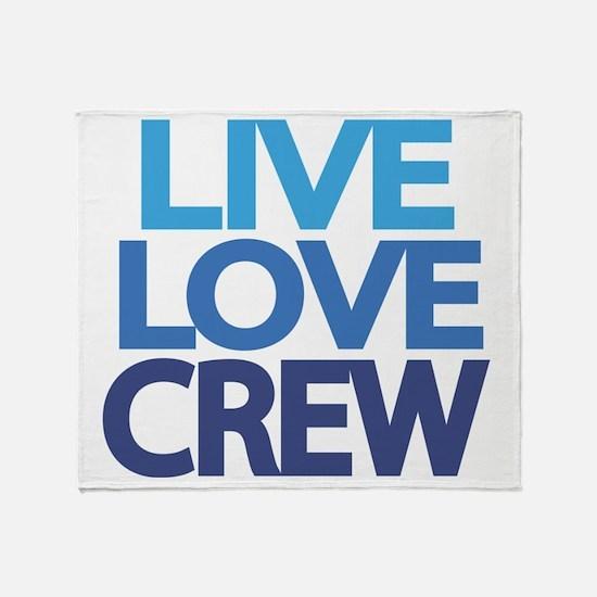 live-love-crew Throw Blanket