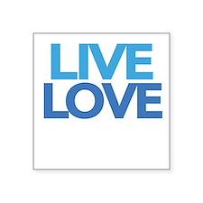 """live-love-crew-darlks-fixed Square Sticker 3"""" x 3"""""""