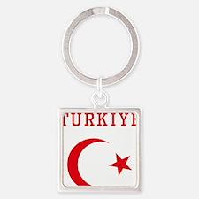 turkiye1 Square Keychain