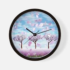 Sakurama - Cherry trees Wall Clock